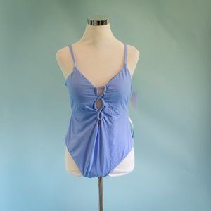 Lucky Brand XL Blue Lace Up Swimsuit NWT